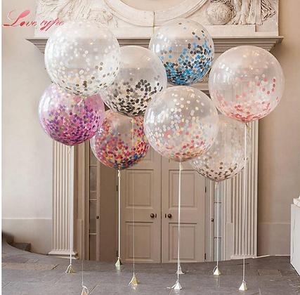 Glitter Confetti Party Balloons