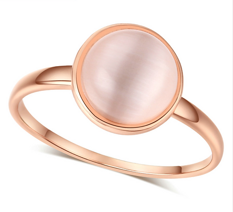 Cat's Eye Stone Rose Gold Ring