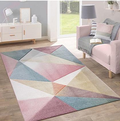 Geometric Design Pastel Carpet