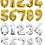 Thumbnail: Gold/ Silver Number Birthday Balloons