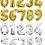 Thumbnail: Gold/ Silver Number Birthday Balloons
