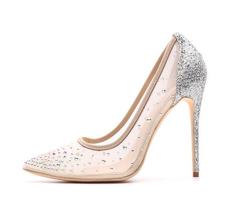 Mesh Sparkling High Heels