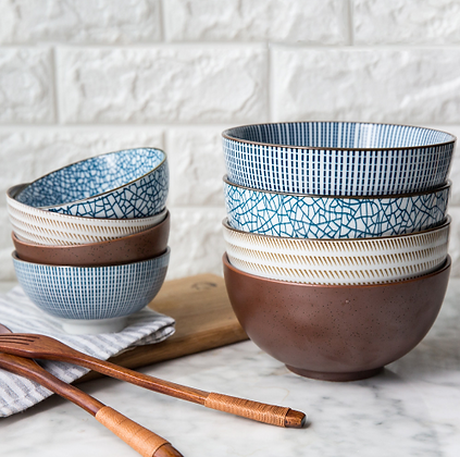 Japanese Style Classical Ceramic Bowls