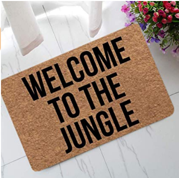 "Welcome Mat ""Welcome to the Jungle"""
