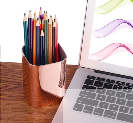 Rose Gold Stainless Steel Pen Holder