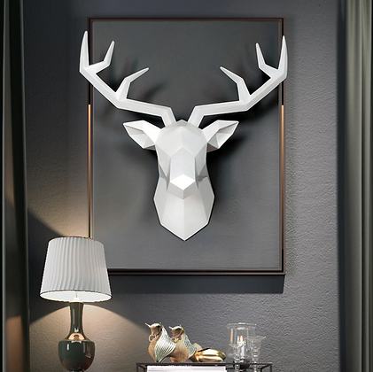 Vintage Stag Head Wall Decoration