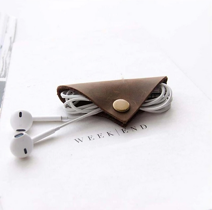 Genuine Leather Earphone Cable/ Cord