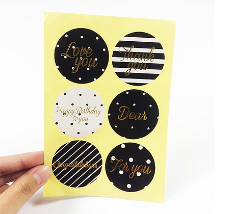DIY Gift Card Stickers Decoration