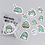 Thumbnail: 40 Pieces Diy Cute Kawaii Papers Little Green Dinosaur Stickers