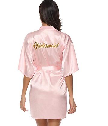 Satin Dressing Gown Kimono Bridesmaid