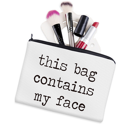 Funny Slogan Cosmetic Travel Bag Pouch