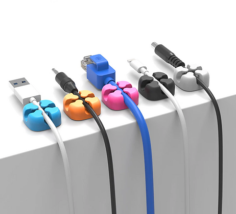 10Pcs Silicon Cable Wire Storage Desk Holders