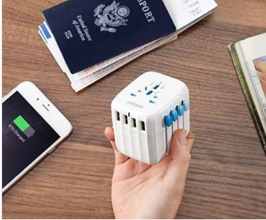All-In-One International Universal USB Travel Power Adapter