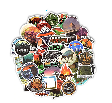 Outdoors Camping Sticker Pack