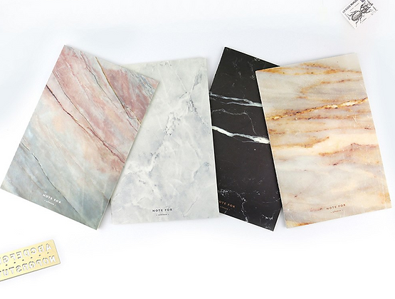 A5 Soft Cover Notebook in Marble Style