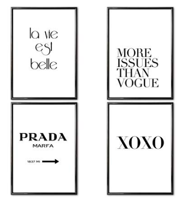 Set of 4 Fashion Posters
