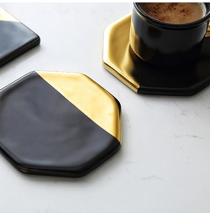 Stylish Black Gold Coaster