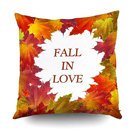 "Autumn Pillow Cover Decor ""Fall in Love"""