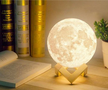 3D Moon Lamp with a Stand