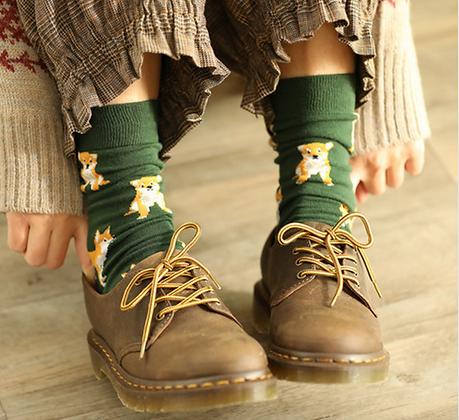 Corgi Kawaii Socks
