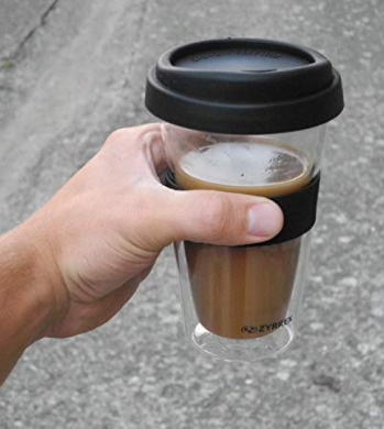 Double Wall Glass Travel Coffee Mug