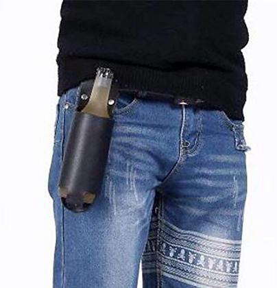 Leather Beer Bottle Holster
