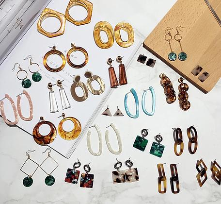 Cool Geometric Drop Earrings