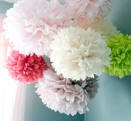 Wedding Decoration Flowers Pom Poms