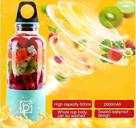 Portable Rechargable USB Blender Juicer Bottle