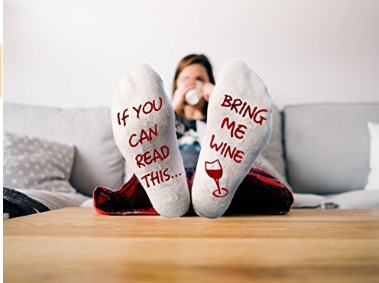 """Funny Socks """"If You Can Read This, Bring Me Some Wine"""""""