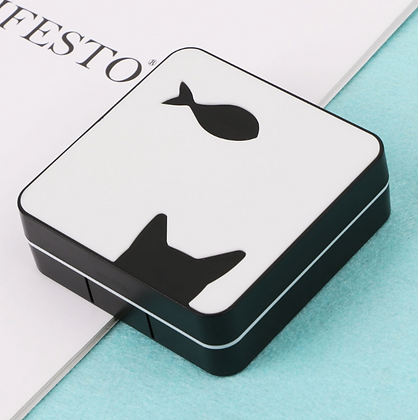 Contact Lens Travel Box with a Mirror