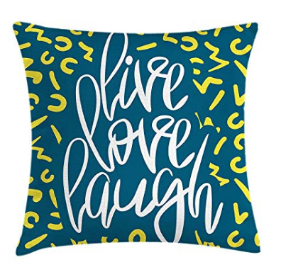 Live Laugh Love Throw Pillow Cushion Cover