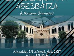 Concert de tornada de l'intercanvi a Alsasua, Navarra