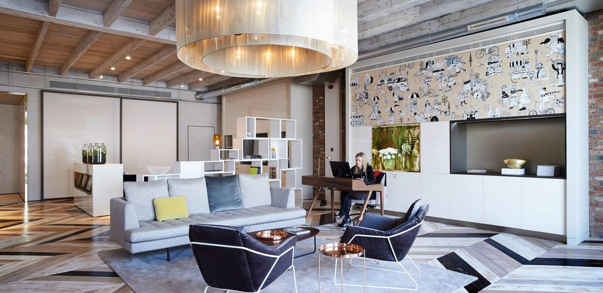 Kings Cross Marketing Suite Reclaimed Chevron Floor Product - Dijon