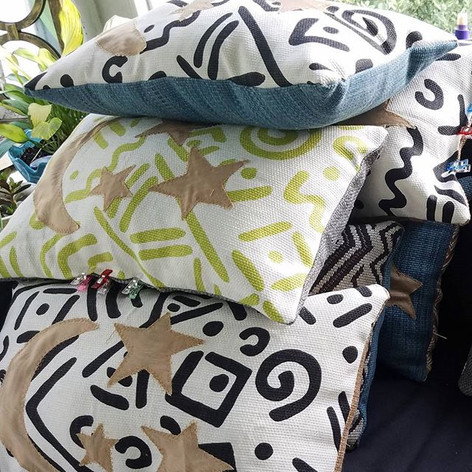 Moon and Star Accent Pillows