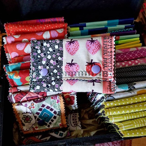 Quilted Wallets with Snaps