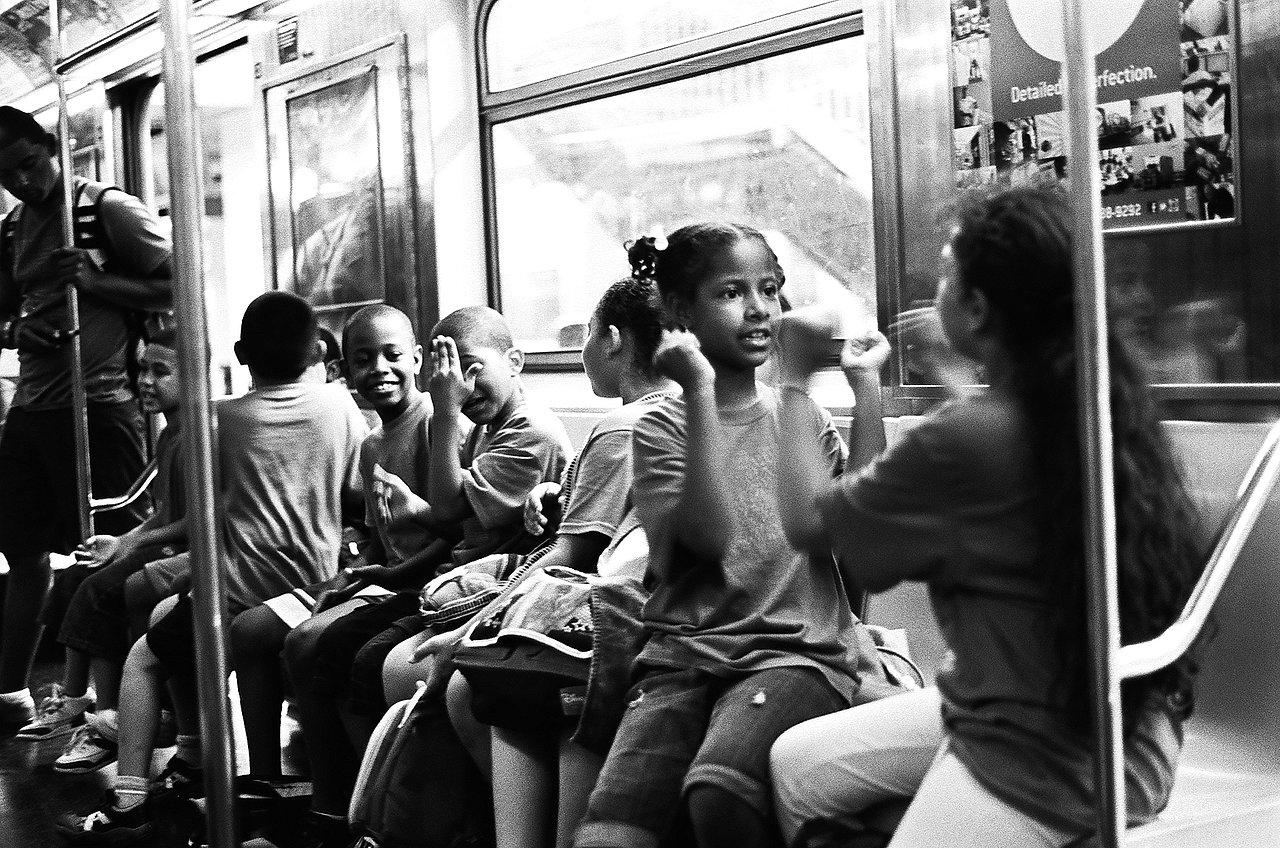 Children on the Subway