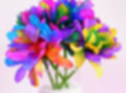 Vibrantly Colored Coffee Filter Flowers.