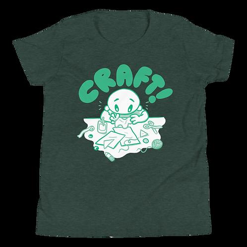 Kids CRAFT! Green Logo Tee