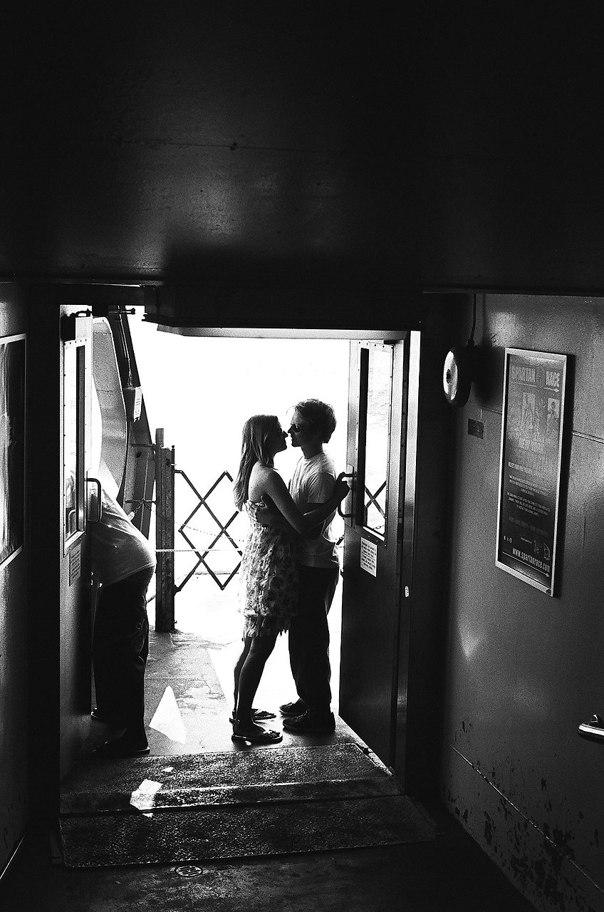 Kissing on the Ferry