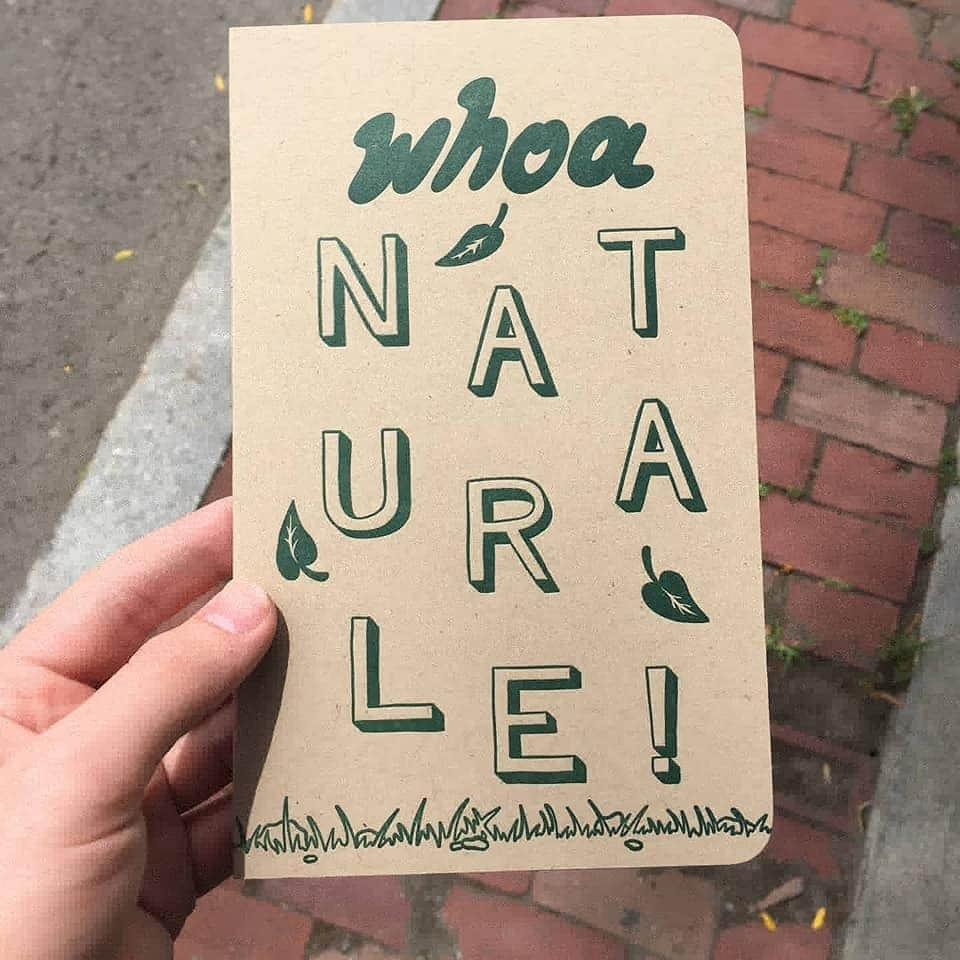 Our first HANDMADE notebook for Week 5: Woah Naturale!