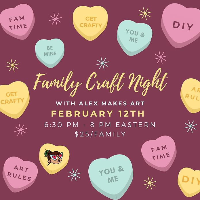 Instagram Valentines Family Craft Night.