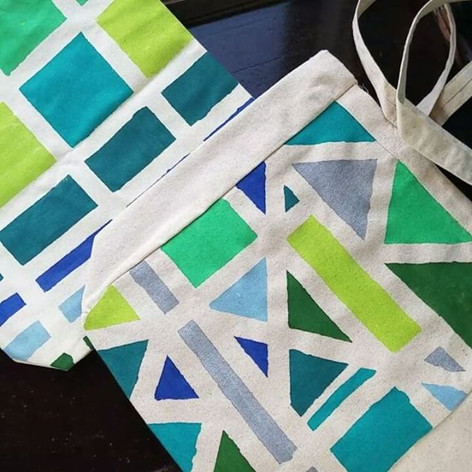 Masking Tape and Paint Tote Bags