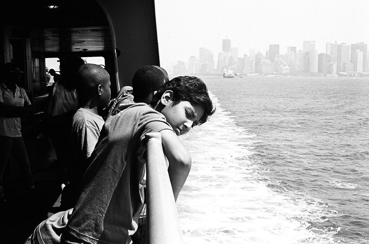 Boy on Staten Island Ferry