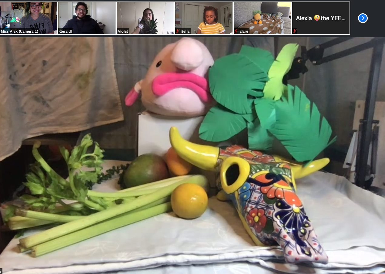 "Our ""Still Life"" Demonstration. Zoom or not, we're still able to get together to draw!"