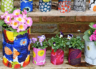 Colorful Upcycled Planters to Brighten Y