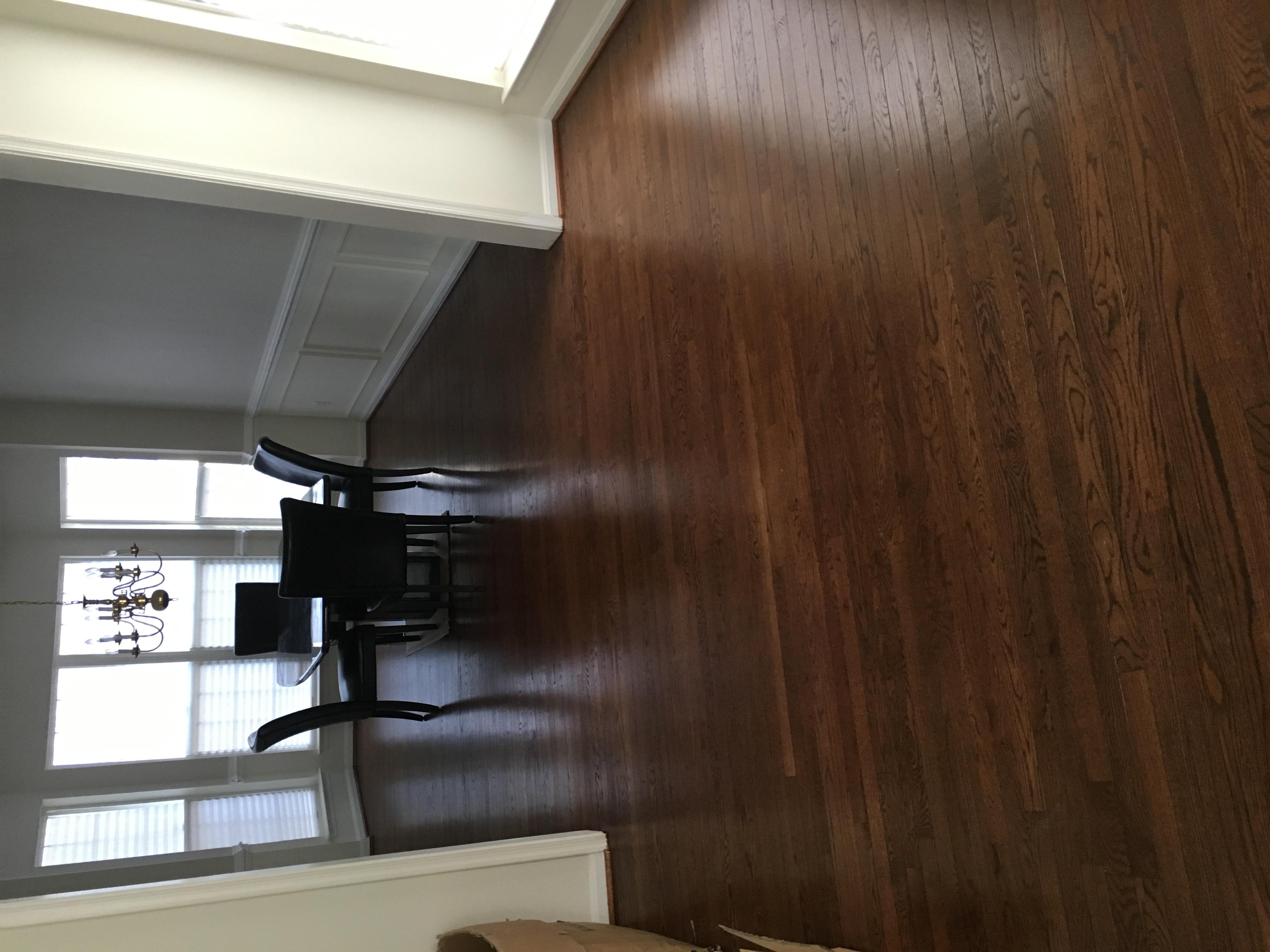 Re-stain hardwood