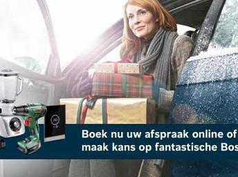 Boek online uw afspraak en maak kans op fantastische Bosch-prijzen!
