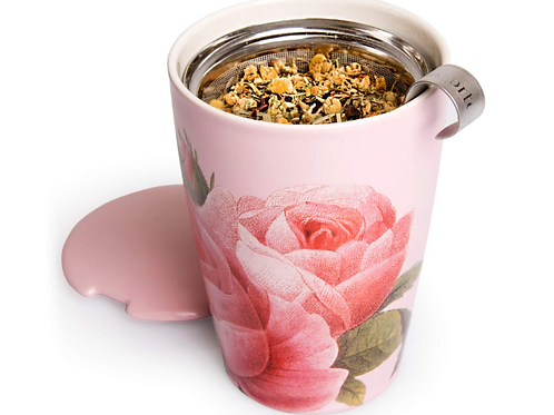 Kati Cup Ceramic Tea Infuser Cup with Infuser Basket and Lid