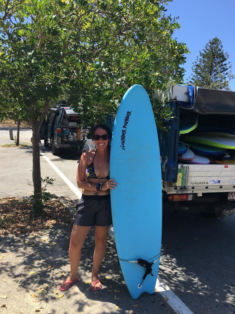 me with a surf board after surfing